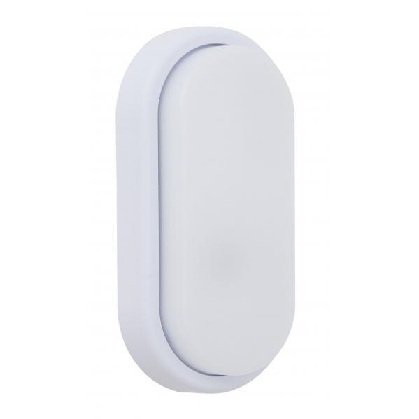 Aplique 12w Surf Exterior Oval Ip65  Blanco  9,9x19,9x4,8 6400k 960lm