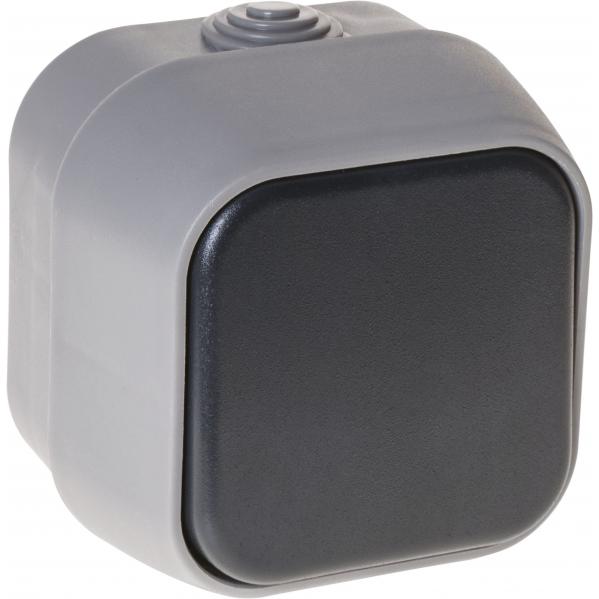 Interruptor Unipolar Bert Ip54 Gris 7x7x5