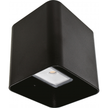 Aplique Exterior 8w 3000k Soure Negro Ip54