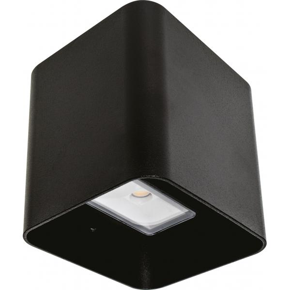 Aplique Exterior 8w 3000k Soure Negro Ip54