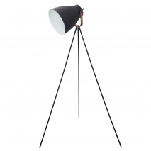 Pie Salon Tripode Getting 1xe27 Negro 150x26d-85d