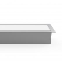 Regleta De Empotrar 40w 3000k Linex Aluminio  3200lm 120x6,5x3,5