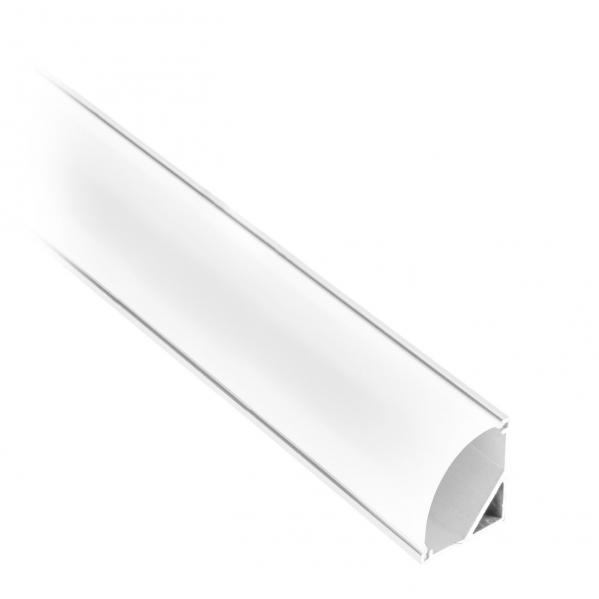 Caja Perfil 8mm Para Cinta De Led (200x2,3) Aluminio Tapon Incluido