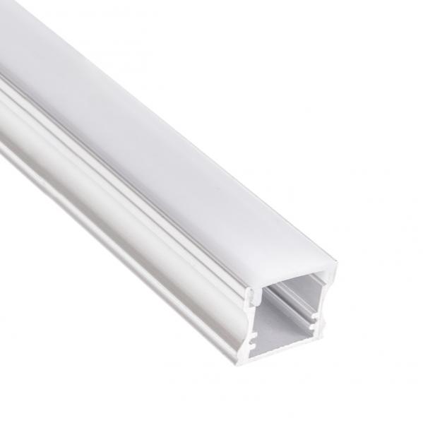 Caja Con Perfil 8mm Para Cinta De Led (200x2,3) Aluminio Tapon Incluido