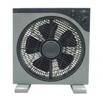 Ventilador Sobremesa Abrego Blanco 55w 5 Aspas  3 Velocid. Con Temporizado 60min 40x48