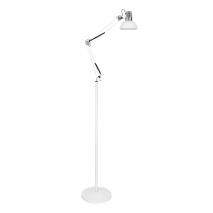 Flexo De Pie 185cm Antigona Articulable 1xe27  Blanco/cromo 142-192x28d