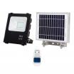 Proyector Solar Tipo Oraculo 50w 1050  Lm 6500k  negro C/mando