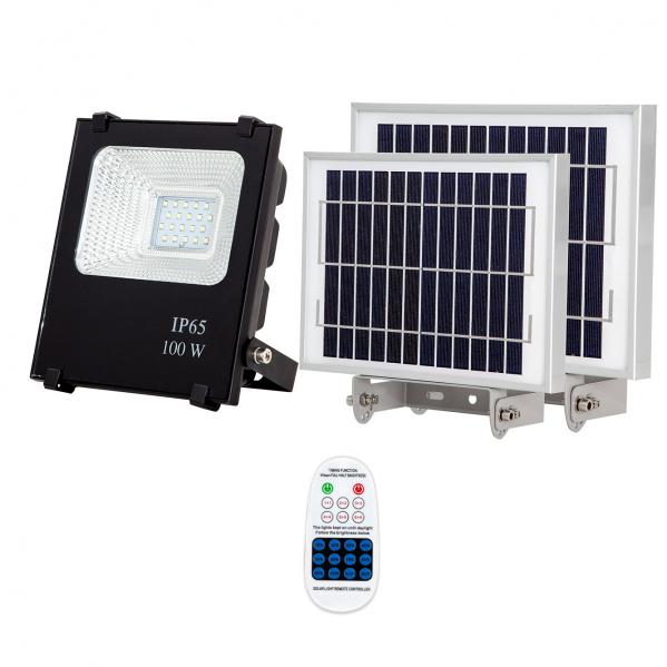 Proyector Solar Tipo Oraculo 100w  1300 Lm 6500k negro C/mando