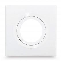 Empotrable Itaca Cuadr. 10x10 Blanco/blanco Gu10