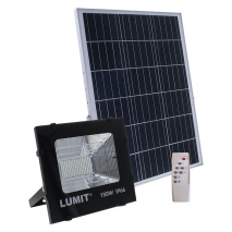 Proyector Solar Junot 150w 6500k Negro  2400lm C/remoto
