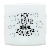 Plafón Sonrisa 2xe27 Blanco 30x30