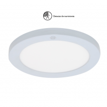 Downlight 18w 3000k, 4000k, 6000k Teseo Blanco 1620lm C/sensor De Movimiento Sup/empot