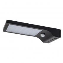 Aplique Solar 5w 6000k Negro Sensor Movimiento 3m Alcance 120º 2,9x10,8x19,1 Ip65