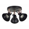 Plafón Arabia 3xgu10 Negro/cobre Bombillas No Incluidas
