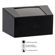Aplique Solar Quartino 0.21w 3000k 5lm Negro  10.20x50.80