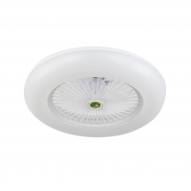 Ventilador Raki 80w Blanco 6400lm (3000k, 4000k, 6000k) Intensidad Regulable 55 D