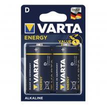 Blister 2 Pilas D/lr20 1,5 V Varta Alkalina Energy