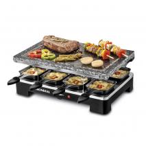 Plancha De Cocinar Electrica C/ Piedra Natural 8 Saltenes 36,5x23,5 Acero Inoxidable