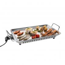 Plancha De Cocinar Electrica 1600w Acero Inoxidable  51,5x31,5
