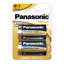Blister 2 Pilas D/lr20  1,5 V  Panasonic Alkaline  Power