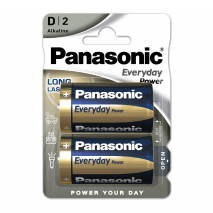 Blister 2 Pilas D/lr20  1,5 V  Panasonic Alkaline Everyday-power