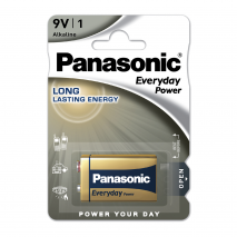 Blister 1 Pila 9v Panasonic Alkalina Everyday-power