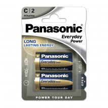 Blister 2 Pilas C/lr14  1,5 V  Panasonic Alkaline Everyday-power