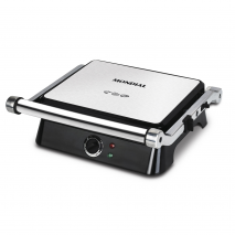 Table Elect.grill Sandwichera 1400w C/termostatoapertura 180º.placas Antiadherentes