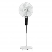 Ventilador De Pie Barat Blanco 45w 3 Vel. C/remoto Temporizador 40d Panel Tactil Oscilante
