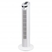 Ventilador Torre Nazare Blanco 45w 3 Vel C/remoto Temporizador 72,5 Cm Oscilante