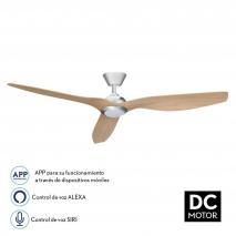Ventilador 15w 4000k Niq/haya Delfos 3 Aspas Abs Comp.alexa Y Siri 132dx40 C.remoto