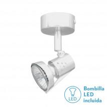 Foco De 1l. Gu10 50w (8x6x12) Blanco