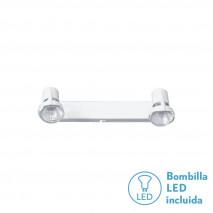 Regleta De 2l. Gu10 50w (12x30) Blanco