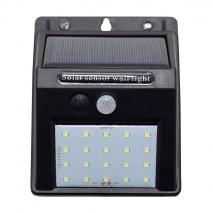 Aplique Solar 3w 6000k Sun Negro Sensor Movimiento3m Alcan 120º 12,4x9,6x4,8 Blister Ip65