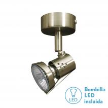 Foco De 1l. Gu10 50w (8x6x12) Cuero Bomb. LED incl.