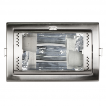 Downlight Rectang.2xe27 Niquel 10x21,5x14,5 Cm