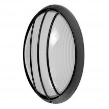 Aplique Ext.oval Aluminio Aquila Grand 1xe27 Neg 32x20,5x11 Cm Ip44