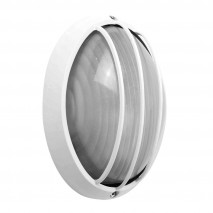 Aplique Ext.oval Aluminio Aquila Grand.1xe27 Blan 11x32x20,5 Cm Ip44