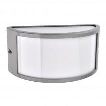 Aplique Exterior Aluminio Ara 1xe27 Gris Ip44 25x12x13 Cm