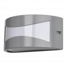Aplique Exterior Aluminio Hadar 1xe27 Gris Ip44 25x12x13 Cm