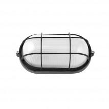 Aplique Ext. Oval Aluminio Apus Peq. 1xe27  Negro  21x10,5x9 Cm Ip44