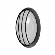 Aplique Ext.oval Aluminio Aquila Peq.1xe27 Negro  22x14x10,5 Cm Ip44
