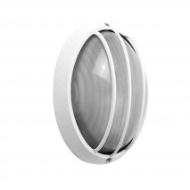 Aplique Ext.oval Aluminio Aquila Peq.1xe27 Blanco  10,5x22x14 Cm Ip444