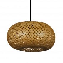 Colgante Bambu Fargesia 1xe27 Avellana Regx45x45 Cm