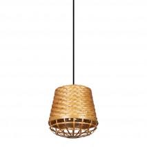 Colgante Bambu Fargesia 1xe27 Avellana Regx24x24 Cm