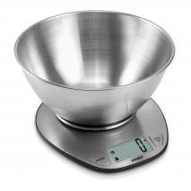 Bascula Cocina Lcd Cuenco Acero 2l Cap.max. 5kg Apagado Autom. Volumen Agua Y Leche