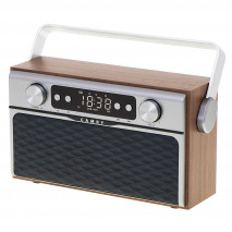 Radio Fm Bluetooh 5.0 Usb Y Tarjeta Sd 16w Aux 50 Memorias Bateria 2600mah 2 Altavoces