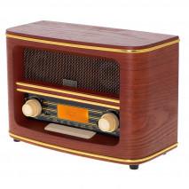 Radio Retro Fm Bluetooh 5.0 Usb Y Aux Reloj Alarma Apag. Autom. 30mem. Salida Auriculares