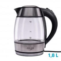 Hervidor De Agua Elect. De Vidrio 0,5-1,8l 2200w Apagado Automatico.filtro Anti-cal