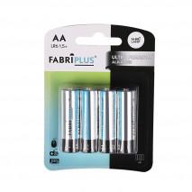 Blister 4 Pilas Aa/lr6 1,5v Fabriplus Alcalina Ultradigital 0%mercurio11,5x8,5x1,5 Cm